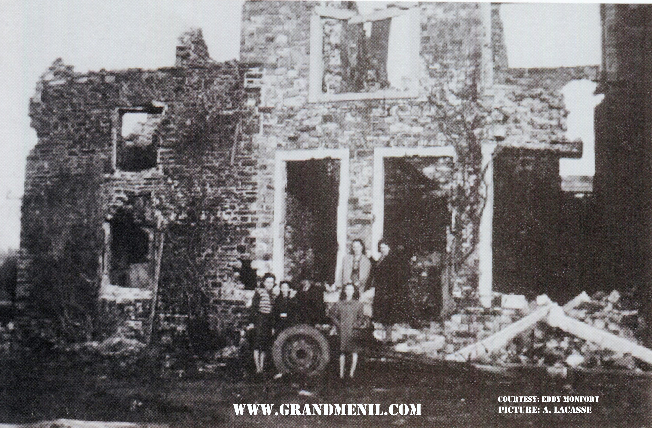 This chalet was destroyed during the attack on Manhay